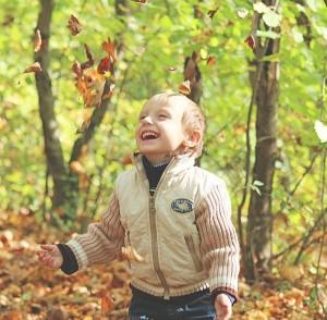 Детская радость осенью