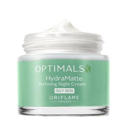 Матирующий ночной крем для жирной кожи Optimals Hydra