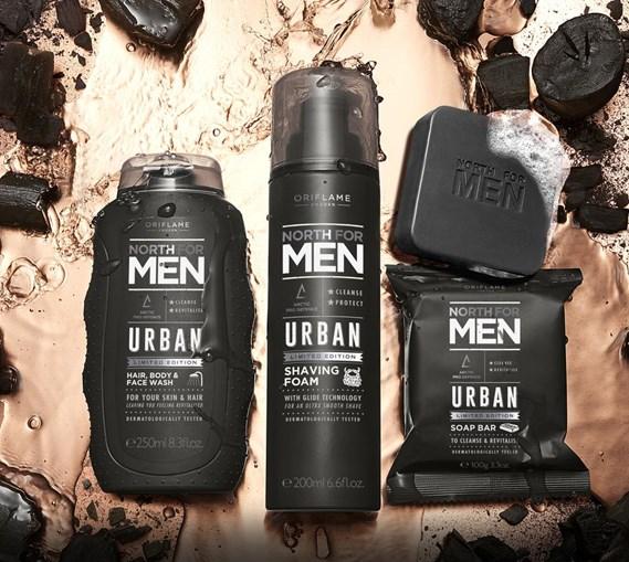Мужская серия для ухода за кожей тела и волосами North for Men Urban