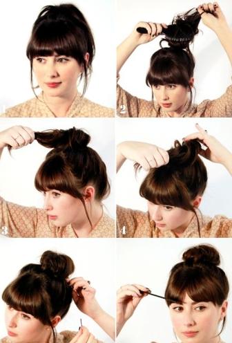Как сделать гульку из волос