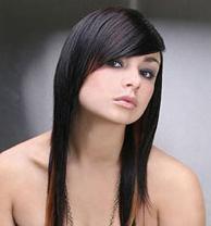 Челка на длинные волосы