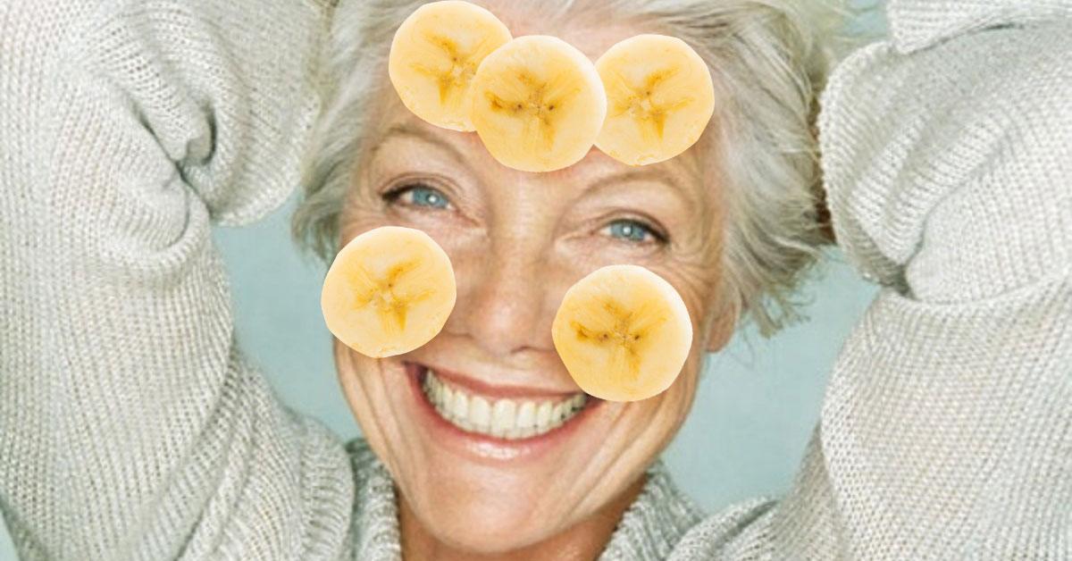 Маска для лица из банан