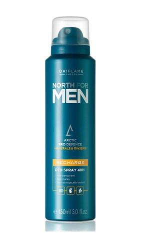 Спрей-дезодорант-антиперспирант 48-часового действия North for Men